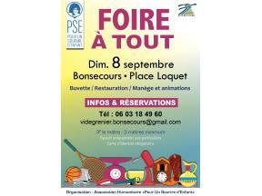 Affiche Foire à Tout de Bonsecours (8 septembre 2019)