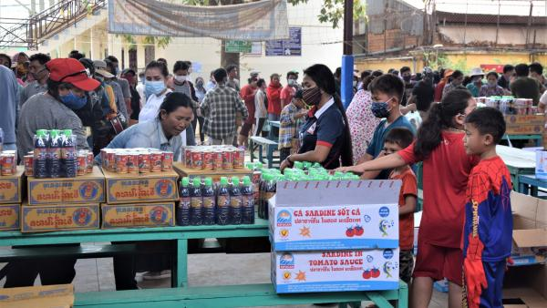 14 avril et 8 mai : distribution de paniers alimentaires au Centre PSE