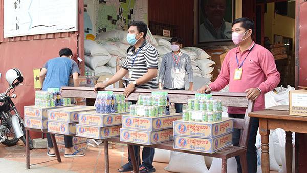 La distribution d'aides alimentaires à PSE