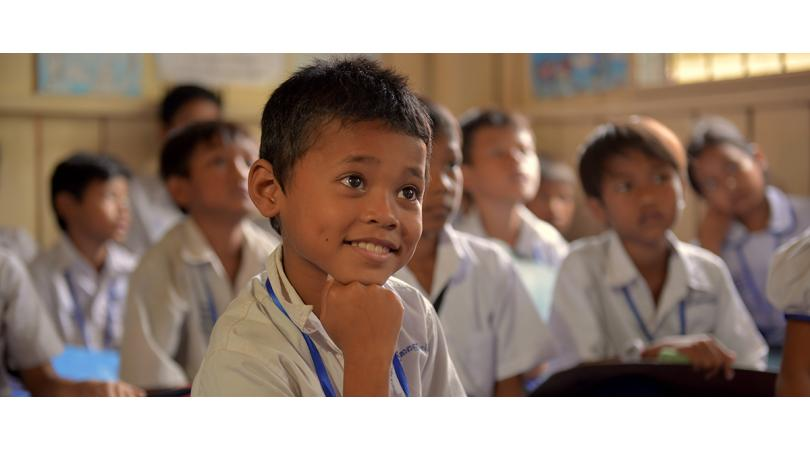 Garçon en classe